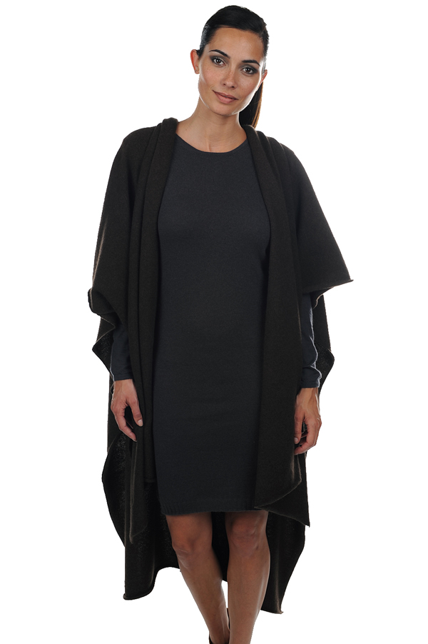 Yak dames poncho s norma natuur bruin one size